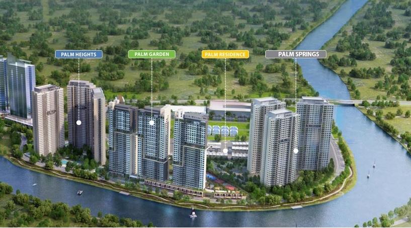 Dự án căn hộ Palm Spring quận 2 thuộc KĐT Palm City - Keppel Land 817x454